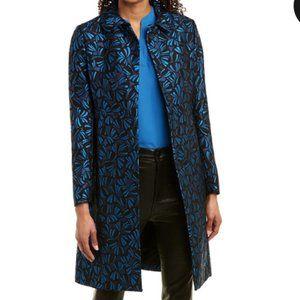 NWOT Anne Klein Button Front Topper Coat